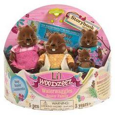 Li'l Woodzeez Waterwaggles Beaver Family