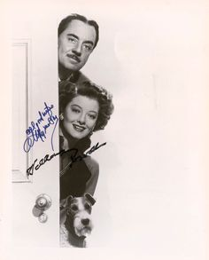 """The Thin Man"" autographs William Powell, Myrna Loy and Asta"
