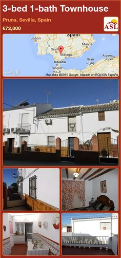 Townhouse for Sale in Pruna, Sevilla, Spain with 3 bedrooms, 1 bathroom - A Spanish Life Murcia, Sevilla Spain, Enclosed Patio, Laundry Area, Ceiling Beams, Cosy, Townhouse, Countryside, Terrace