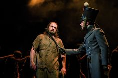 Alfie Boe (Jean Valjean) and Hadley Fraser (Javert) - Photo by Michael Le Poer Trench #theatre #lesmis #musicals www.lesmis.com