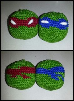 Ninja turtle hacky sacs for my nephew. 2 of 4 Christmas 2014- csotomillsaps