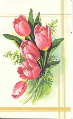 Items similar to tulip painting, tulip art, red tulips, tu Tulip Painting, Acrylic Painting Flowers, Watercolor Flowers, Watercolor Art, Folk Art Flowers, Botanical Flowers, Botanical Art, Flower Art, Beautiful Flowers Wallpapers