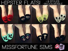 MissFortune.'s Hipster Flats- http://www.thesimsresource.com/downloads/details/category/sims3-clothing-female/title/%5Bmf-sims%5D-hipster-flats/id/1221546/