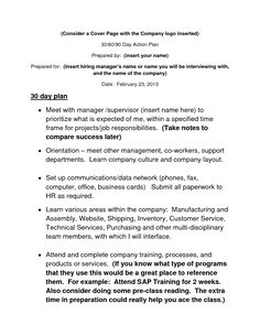 30 60 90 Day Action Plan Template Resume Tips Best Sample