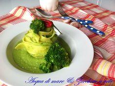 Pappardelle+con+crema+di+broccoli