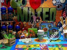 Resultado de imagen para plants vs zombies fiesta infantil