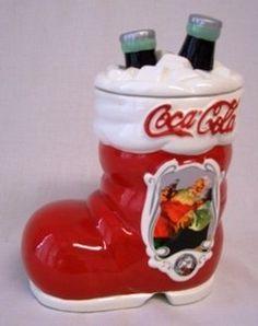 75th Anniversary Coca Cola Santa's Boot Cookie Jar by Houston Harvest, http://www.amazon.com/gp/product/B006ZD46P6/ref=cm_sw_r_pi_alp_kaPnqb1CK2PSJ