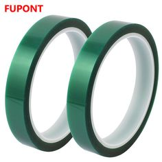 2Pcs 50mm Width 33M Length Green PET Self Adhesive Tape High Temp Heat Resistant