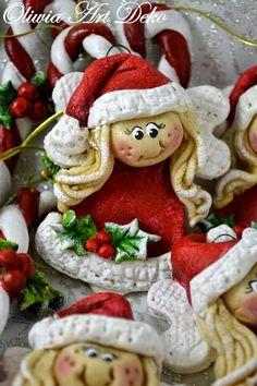 Oliwia Art Deko: Cukierkowe laseczki, serwetniki i reszta świąteczn...
