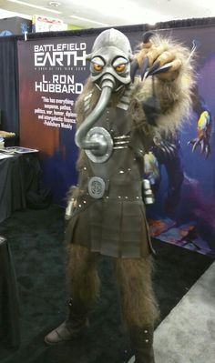 Terl from Battlefield Earth attending Silicon Valley Comic Con. #SVCC @BE_the_Book
