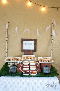 Feathers and Arrows 3rd Birthday Party by One Stone Events '3 Little Pigs in a Blanket Mini Bar'