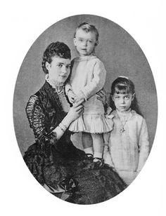 Grand Duchess Xenia Alexandrovna Romanova of Russia and Grand Duke Alexander Mikhailovich Romanov of Russia with Mother Empress Maria Feodorovna.