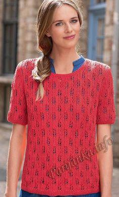 Пуловер с короткими рукавами (ж) 13*178 Bergere de France №4749