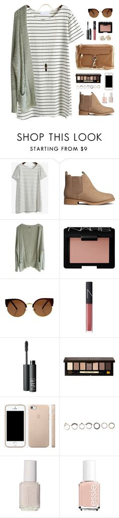 """fall dress"" by classically-preppy ❤️ liked on Polyvore featuring H&M, Free People, NARS Cosmetics, Rebecca Minkoff, Bobbi Brown Cosmetics, Kate Spade, Iosselliani, Essie and Isabel Marant"