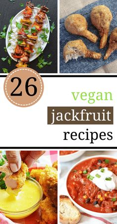 These Vegan Jackfruit Recipes are great for making BBQ, pulled pork, tacos, curry and more easy and healthy dinners. The perfect meat substitute! Veggie Recipes, Whole Food Recipes, Vegetarian Recipes, Cooking Recipes, Healthy Recipes, Healthy Food, Dinner Healthy, Cheap Recipes, Pumpkin Recipes