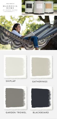 Check out the Magnolia Home Paint collection from designer Joanna Gaines and KILZ. There are tons of classic color combinations to choose from, like this simple neutral color palette. Softer colors like Shiplap and Gatherings provide a light background that bolder colors like Garden Trowel and Blackboard can pop against. See how you can incorporate these elegant colors in your home today.