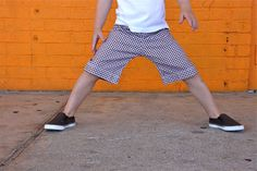 sewing KID Shorts: the Flat Front   MADE