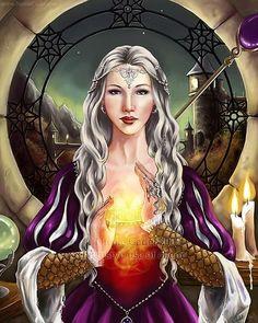 Silver mage #fantasyportraits #silverhair #mage #magic #commission #digitalart #fantasyart #artistsofinstagram #instaart #painting