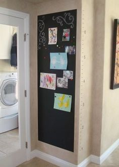 Magnetic Chalkboard Wall & Growth Chart