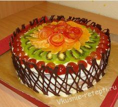 как украсить торт фруктами мастер класс - Поиск в Google