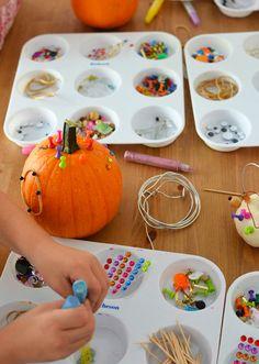 Halloween art project for kids - Pumpkin Party