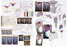 t-shirt fashion designThis presentation has a confident, analytical, graphical style. The project boasts clever and bold heading colours,which link to the design, without dominating the page. The inclusion of photographs helps to inform and illustrate stages of development (students should be careful they don't use this to space-fill, however), considering pattern, form and colour alternatives.
