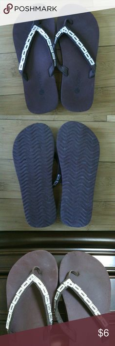 d38b3199c5224 Flip flops These cute rhinestone decorative flops have a few indentations  in the rubber near the