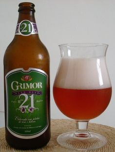 Cerveja Grimor nº 21 Herb Beer, estilo Spice/Herb/Vegetable Beer, produzida por  Cervejaria Caseira, Brasil. 4.5% ABV de álcool.