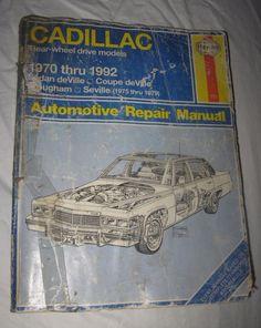 Haynes Repair Manual Cadillac 1970 To 1990 Rear Wheel Drive Models