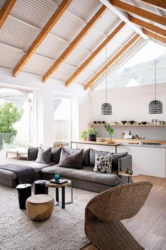 A thoughtful renovation took this Camps Bay home from old-fashioned double storey to streamlined beach bungalow with sea and mountain views. Bungalow Renovation, Bay House, Home, Renovations, Interior Cladding, Beach Bungalows, Interior, House, Home Deco