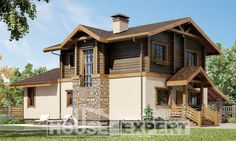 170-004-R Two Story House Plans with mansard with garage under, best house Architectural Plans