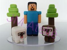 Topo de bolo Minecraft de biscuit.