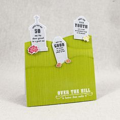 Over The Hill Graveyard Card by Lizzie Jones for Papertrey Ink (August 2015)