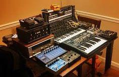 Image result for music gear 3d designer layout moog korg roland