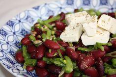 Salade de haricots rouges, pois gourmands et feta - La cuisine de Dali