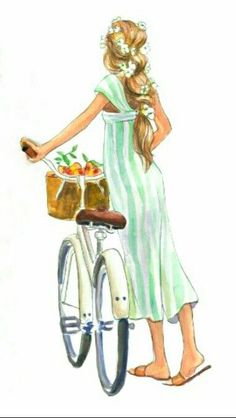 Discover thousands of images about Inslee Fashion Sketches, Art Sketches, Illustration Mode, Illustrations, Bike Art, Fashion Art, Fashion Design, Cute Drawings, Art Girl