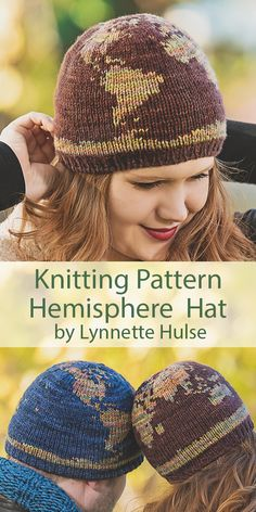 Hemisphere knitting pattern by Lynnette Hulse - knitting pattern for Hemisphere Hat . Hemisphere knitting pattern by Lynnette Hulse - knitting pattern for Hemisphere Hat - Crochet Patterns For Beginners, Baby Knitting Patterns, Free Knitting, Halloween Knitting Patterns Free, Baby Hat Knitting Patterns Free, Baby Sweater Knitting Pattern, Beginner Knitting, Knitting Charts, Loom Patterns