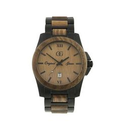 Stainless Steel & Sandalwood Watch | Men's Accessories | Original Grain | Scoutmob Shoppe | Product Detail