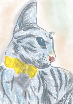 6) My Cat.  Tiempo: 45 Min Técnica Digital .AI