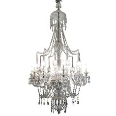 LIGC10072:- Large #crystal #chandelier, english #Regency #style, twenty branch, ten light with spire finials - 200cm high x 110cm diameter (requires installation by Farley team- additional charge).    **Available to hire**    Please contact www.farley.co.uk for further information. Prop Hire, Clever Design, Regency, Antique Furniture, Chandeliers, English, Ceiling Lights, Crystals, Antiques