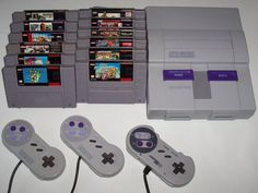 super nintendo - still have mine my uncle brought me from Disney when I was 6 :)