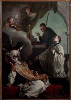 The Saints Andrew Avellino, Louis Gonzaga and Stanislaus Kostka, by Giambettino Cignaroli, 1749, 18th Century, oli on canvas