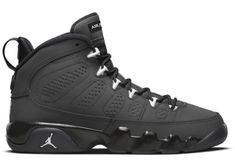 Buy and sell authentic Jordan 9 Retro Anthracite 9 (GS) shoes and thousands of other Jordan sneakers with price data and release dates. Jordan Boots, Jordan Shoes For Men, Michael Jordan Shoes, Jordans Girls, Jordans For Men, Air Jordans, Zapatillas Jordan Retro, Black Basketball Shoes, Jordan 9 Retro
