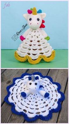 Crochet Unicorn Security Blanket Crochet Pattern