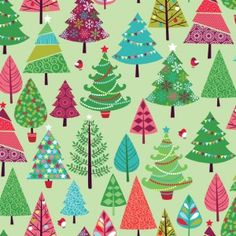 Makower Christmas 2015 Festive Trees On Green Quilt Cotton Embroidered Christmas Ornaments, Christmas Fabric, Retro Christmas, Christmas 2015, Christmas Trees, Fabric Tree, Shops, Andover Fabrics, Green Quilt