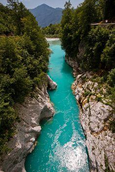 Emerald beauty, Soca river, Slovenia  http://www.slovenian-getaway.si/