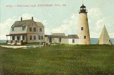 Wood Island Light Station in York County, Maine.