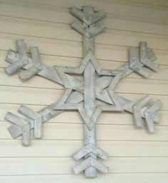 Snowflake from reclaimed wood...so many possibilities.