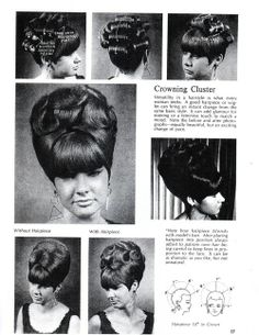 vintage pictures of big hair 1960's | On Wiglets and Hair Pieces, Part 1