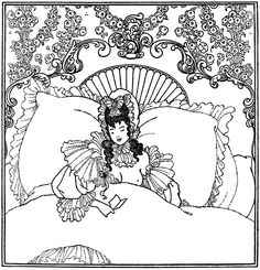 "The Billet-Doux. Illustration by Aubrey Beardsley from ""The Rape of the Lock"" (1896)"